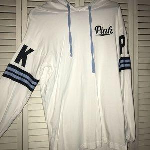 pink brand hoodie